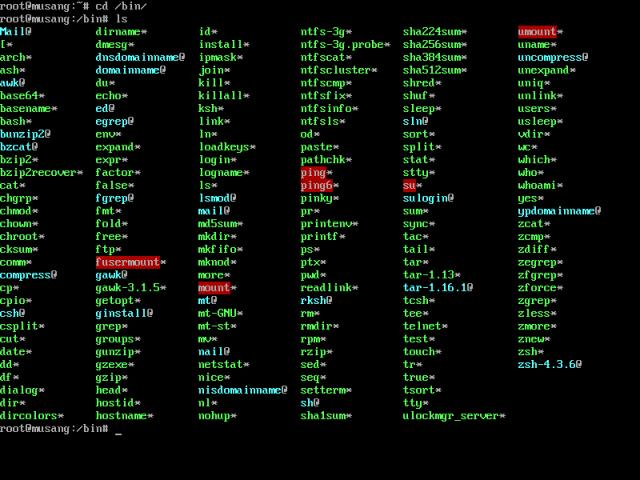 Download unix console commands...